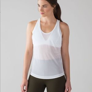 Lululemon Mesh Tank Top with Built In Sports Bra